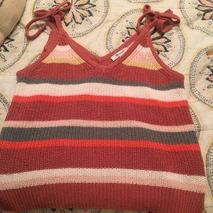 striped grandfield tie strap sweater tank
